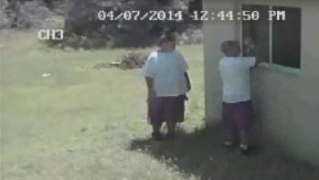 Two men were seen breaking into a home on Glenquist Avenue South on Monday, according to Lee County deputies.
