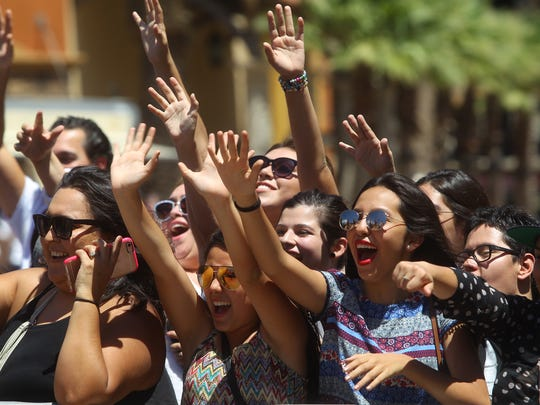 Fans of  Demi Lovato and Nick Jonas get ready to see an appearance from the pair at Desert Hills Premium Outlets in Cabazon as part of a promotional stop for their tour.