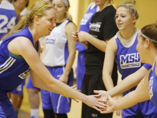 Mt. St. Joseph College freshman basketball player Lauren