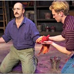 """A scene from The Naples Players' """"Red."""""""