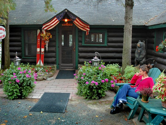 The log Spider Lake Lodge was built in 1923 west of