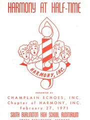 Cover of the 1971 Champlain Echoes program for their
