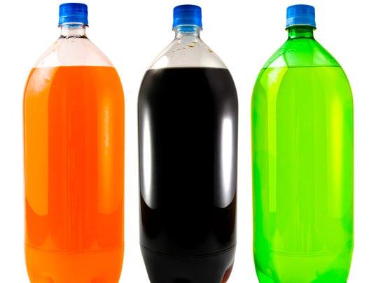 Soda Bottle Trio Isolated