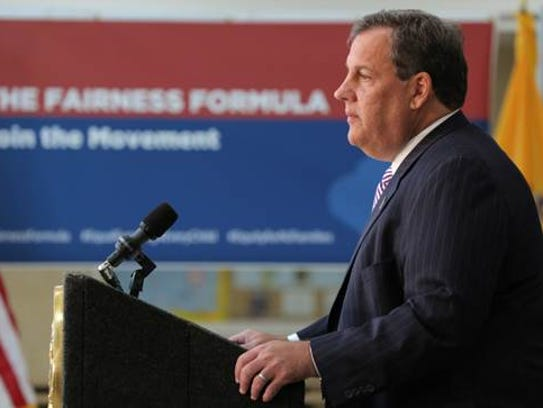 Gov. Chris Christie unveiled his plan to change the