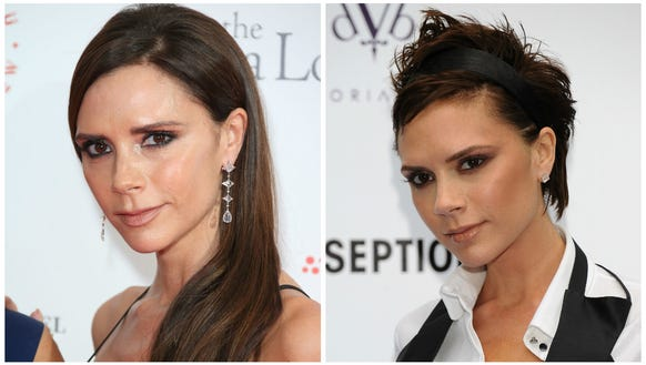 Left) Victoria Beckham now (Right) The fashion forward pixie we used