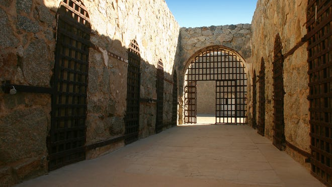 The Yuma Territorial Prison State Park protects the remains of a notorious penitentiary.