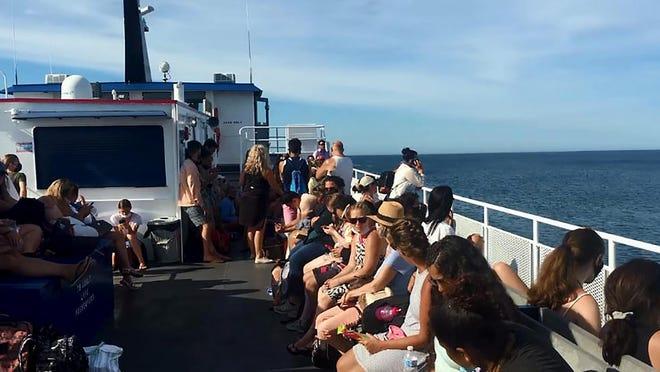 Image from video taken aboard the Block Island ferry on June 19.