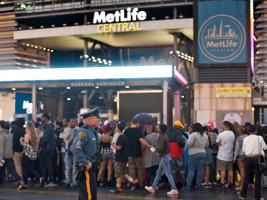 The security line was long at the Hot97 Summer Jam concert at MetLife Stadium in East Rutherford in June 2016.