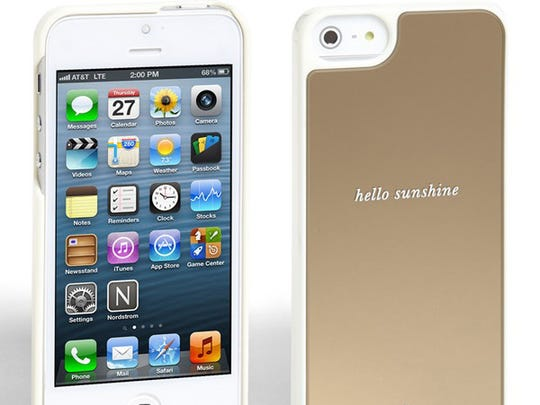 This Kate Spade gold and white iPhone case retails for $40 at Nordstrom.com.