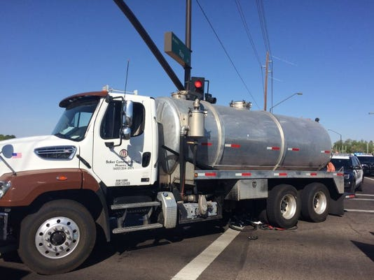 Commercial truck strikes bicyclist in Gilbert