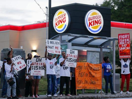 EPA USA LABOUR FAST FOOD STRIKE LAB STRIKE USA GA