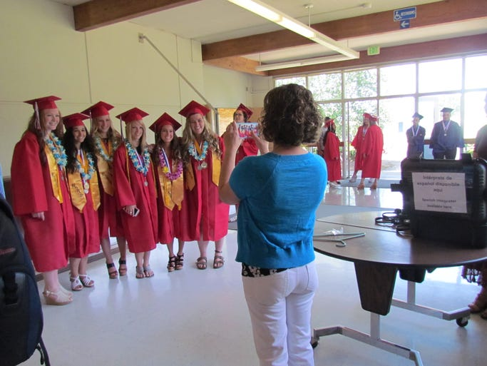Say cheese: Kennedy High School graduation ceremony Saturday, June 7, 2014, in Mt. Angel.