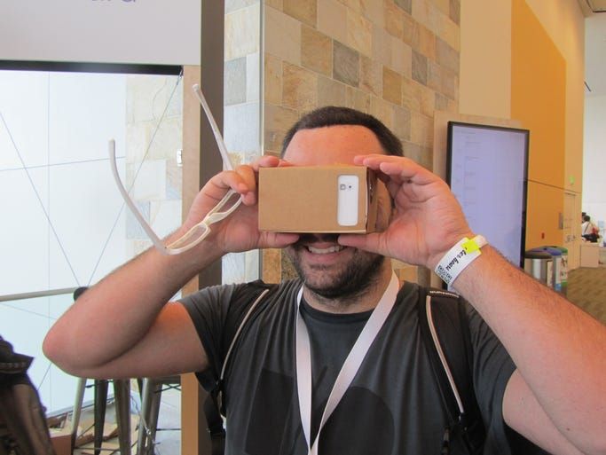 Google gave developers a piece of cardboard that when coupled with a smartphone became a virtual reality viewer.