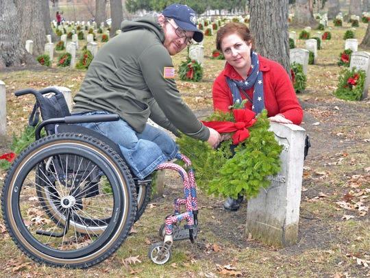 Veteran Matt Bowman of Lafayette and Liz Landis of