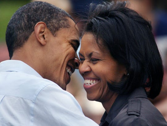 Michelle Obama, wife of then-Democratic presidential