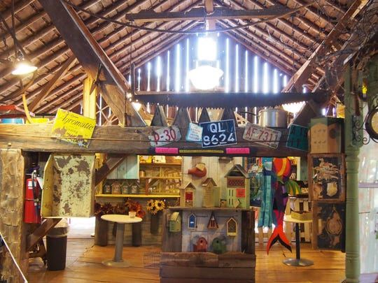 Inside the craft barn, local artisans have a variety