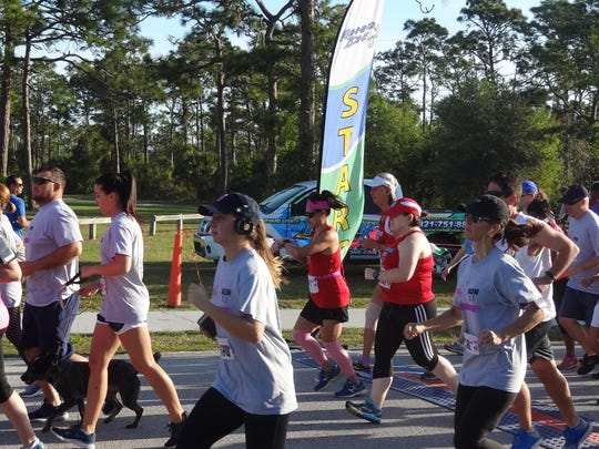 Runners at the start of the 2018 Brianna Marie 5K in March to raise awareness for fetal therapy.