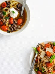 Lasagna soup, from How to Eat Better by James Wong