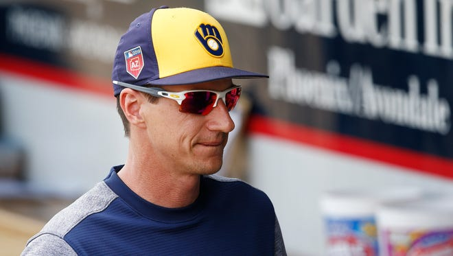 Manager Craig Counsell and the Brewers finished with the best record in the Cactus League.