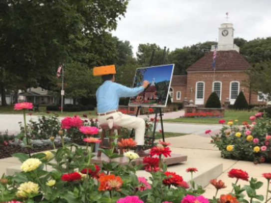 A picture perfect painting of Greendale Village Hall