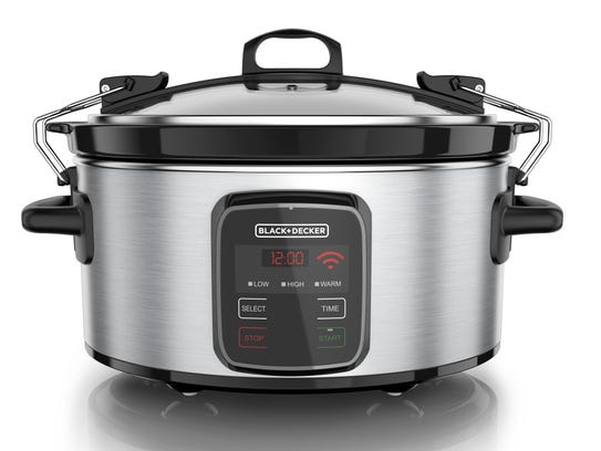 With this Wi-Fi-enabled slow cooker, you can control