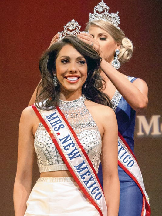 Courtesy Photo   Amanda Ponce of Hobbs is the 2015 Mrs. New Mexico Pageant winner. The pageant was held June 27 at the African American Performing Arts Center in Albuquerque. Delegates from all over the state of New Mexico competed for the coveted crown.