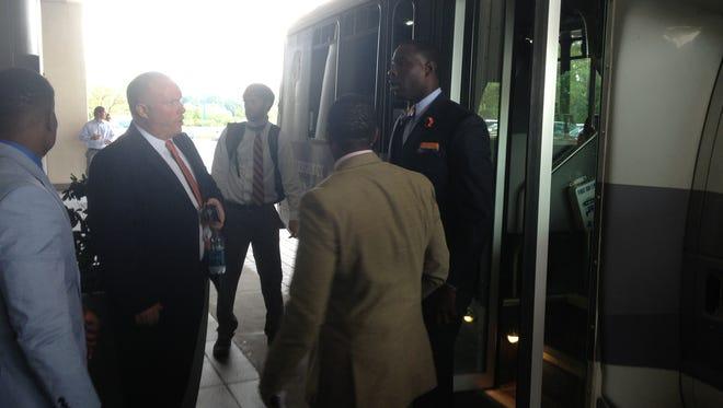 Auburn QB Jeremy Johnson arrives at SEC Media Days