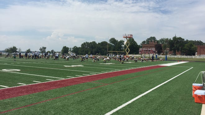Notre Dame's football training camp is at Culver Academies.
