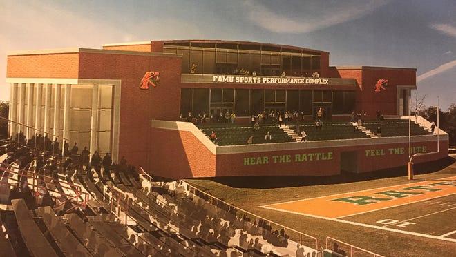 Concept art of a new all-sports complex at Florida A&M.