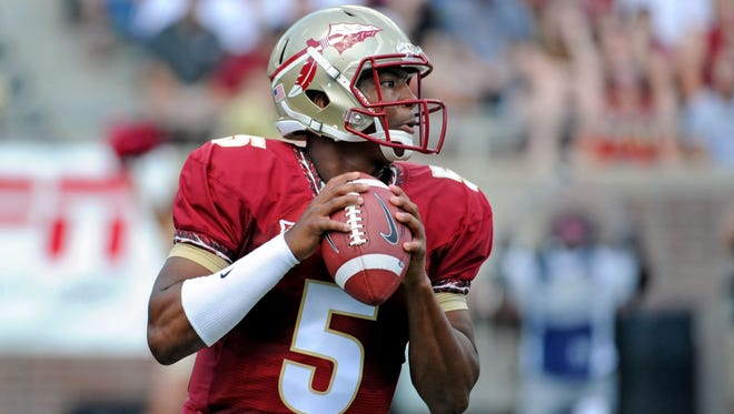 3. QB Jameis Winston, Florida State. Like Manziel a season ago, Winston will need to produce at an even higher clip – and lead FSU to another undefeated regular season – to remain at the forefront of the Heisman race. I wouldn't bet against Winston taking a substantial step forward in his second full season; judging by his work with the Seminoles' recent quarterbacks, Jimbo Fisher has a profound impact on his returning starters under center. Perhaps Winston's biggest hurdle comes from how Heisman voters view his off-field missteps. Stats- 4057 yds, 219 rushing yds