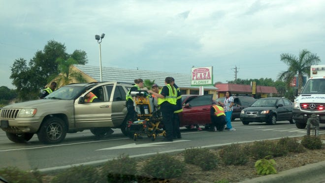 Henson Street in Fort Myers was closed temporarily after a vehicle crash.