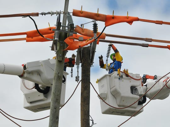 Power has been restored in many homes after Irma, but