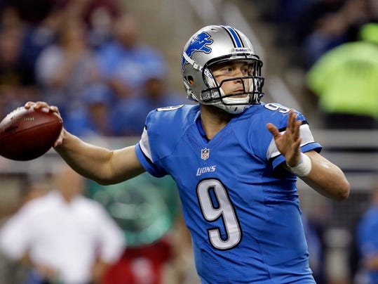 FILE - In this Aug. 9, 2013, file photo, Detroit Lions quarterback Matthew Stafford throws during a preseason NFL football game against the New York Jets in Detroit. It has been five years since Detroit drafted Stafford with the No. 1 overall pick, and in that span, the Lions have progressed from miserable to maddening. (AP Photo/Paul Sancya, File)