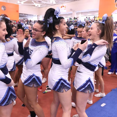 Eastridge cheerleaders react after hearing they placed