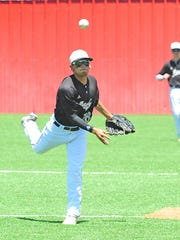Brady High School sophomore shortstop Gonzalo Morales fires a throw to first base in a game earlier this season.