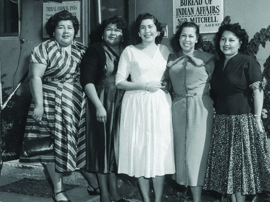 The all-woman Agua Caliente Band of Cahuilla Indians tribal council, elected in 1954.
