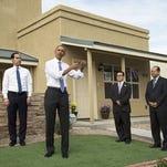 President Obama tours a housing development in Phoenix.