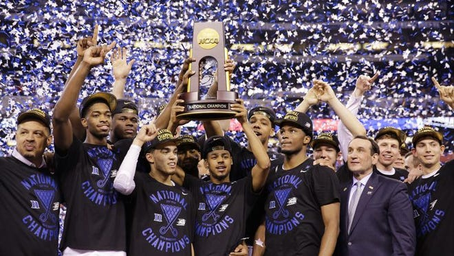 Duke won the NCAA basketball championship Monday night in Indianapolis.