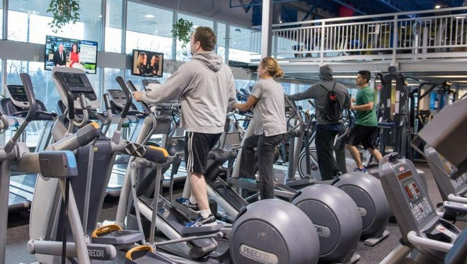 Clients working out at Eastpointe Health & Fitness in Atlantic Highlands.