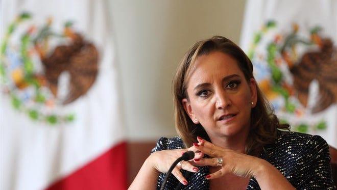 La titular de la Secretaria de Relaciones Exteriores (SRE) de México, Claudia Ruiz Massieu. (EFE/Archivo)