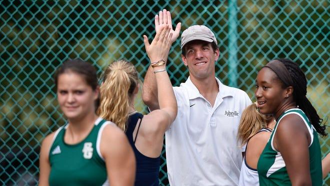 Asheville School girls tennis coach James Pharr.