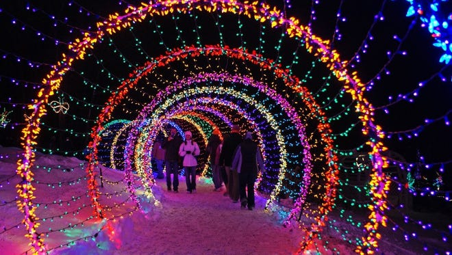 The Green Bay Botanical Gardens play host to Garden of Lights during the holidays.
