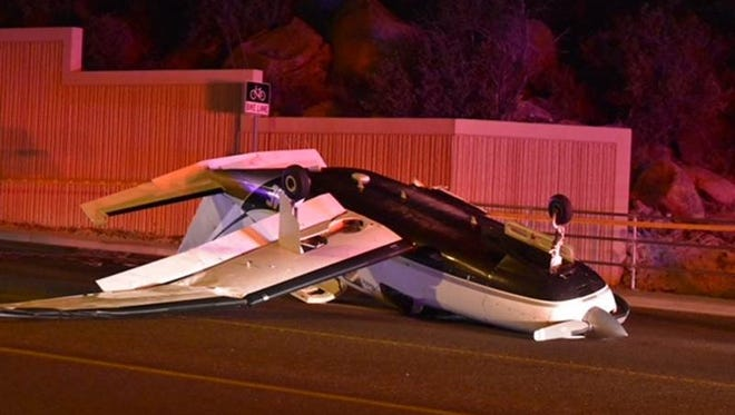 A Malibu Piper single-engine prop aircraft made an emergency landing on Iron Springs Road in Prescott on May 29, 2018. The plane was carrying three people bound for Prescott from the Los Angeles area. Police said the plane may have struck a light pole, causing the wing to break off and the plane to roll over.
