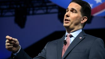 Gov. Scott Walker speaks at the Conservative Political Action Conference (CPAC) at National Harbor, Maryland, in February.