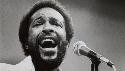 The late Marvin Gaye was fast friends with Detroit Lions greats Lem Barney and Mel Farr.