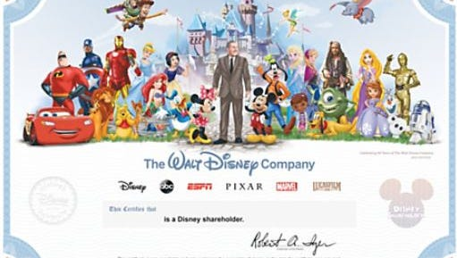 A share of Walt Disney stock can make for a stock that will appreciate