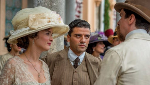 "Charlotte Le Bon, from left, Oscar Isaac and Christian Bale star in ""The Promise."""