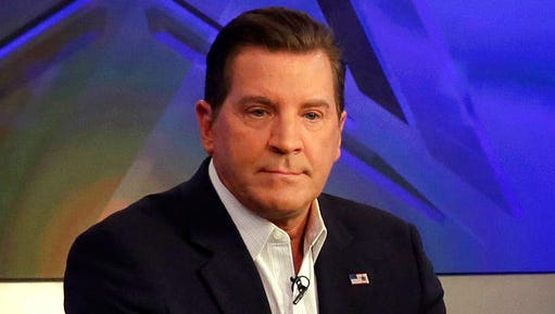 "FILE - In this July 22, 2015 file photo, co-host Eric Bolling appears on ""The Five"" television program, on the Fox News Channel, in New York. Bolling will host ""The Specialists, a new show debuting Monday, May 1, 2017, which will replace ""The Five."""