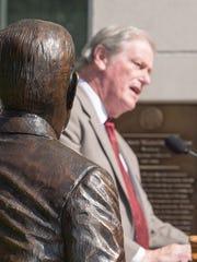 President John Thrasher spoke at the statue dedication