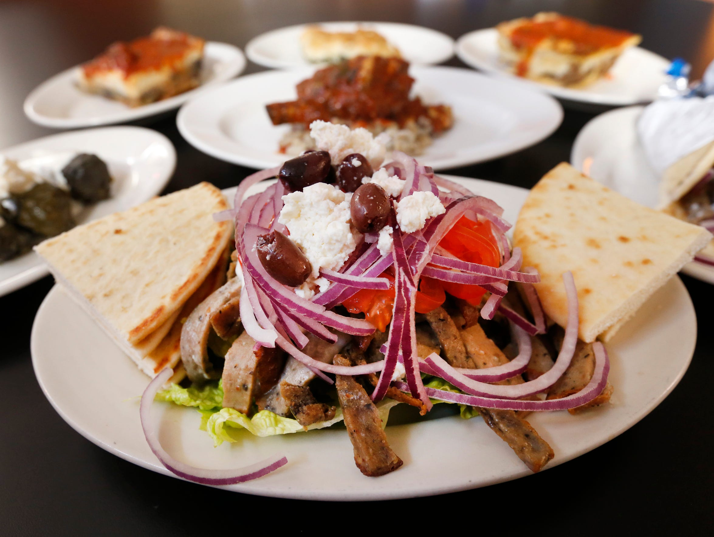 The Gyros for Two are one of the more popular dishes